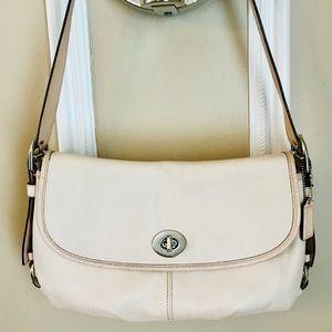 Vintage pink leather coach bag